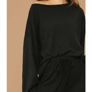 SHEIN Other - New Shein drop shoulder rib-knit top and pants set